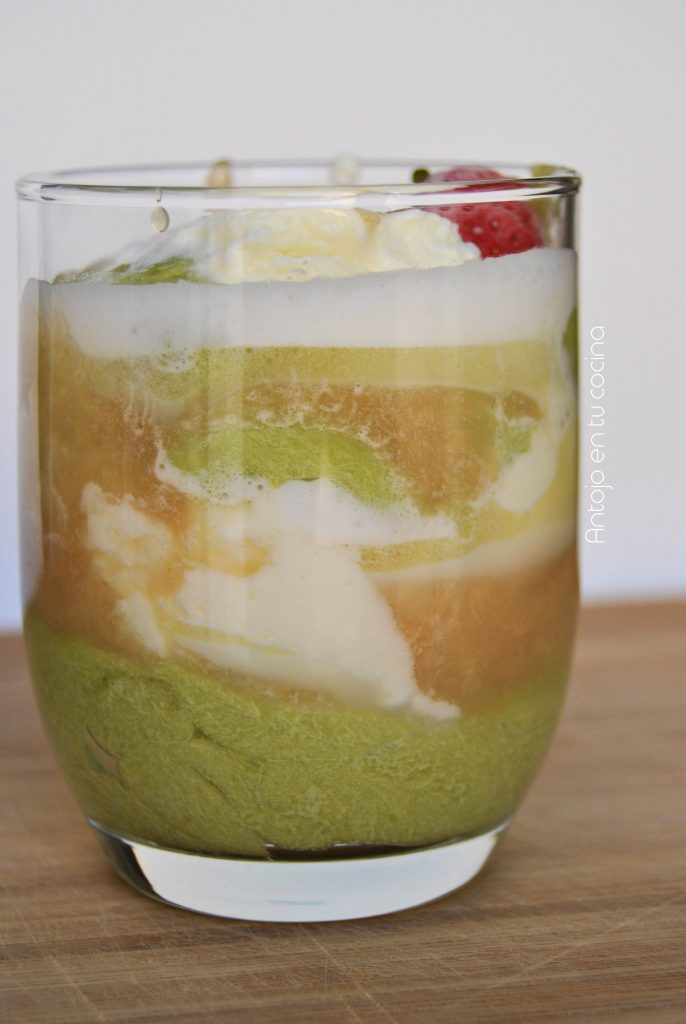 mousse aguacate y toffe
