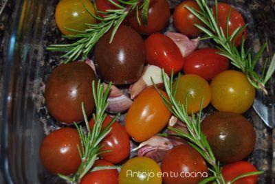polenta con kale y tomatitos