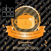 """Ganadora del primer reto """"ABC Rice"""" de recetas con arroz"""