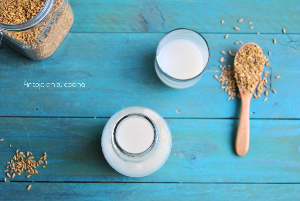 leche vegetal con granos de avena