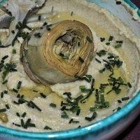hummus de alcachofa