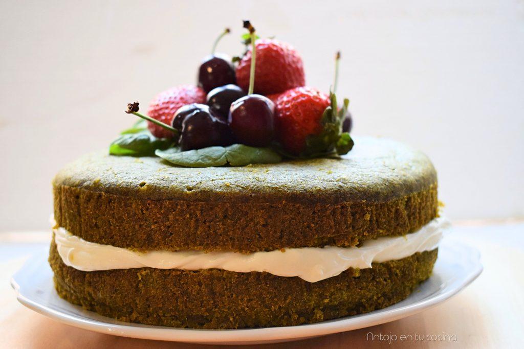 tarta dulce de espinacas