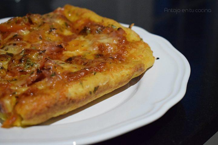 Pizza con masa de calabaza