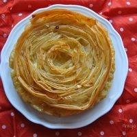Ruffle milk pie {tarta de masa filo y leche}