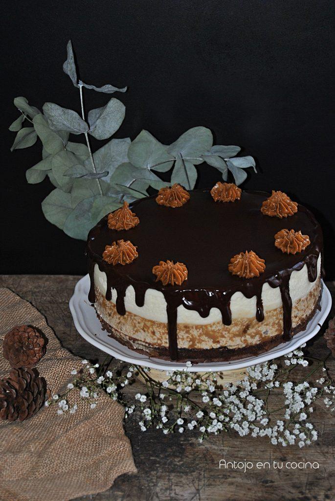 Tarta dos chocolates y crema de spéculoos