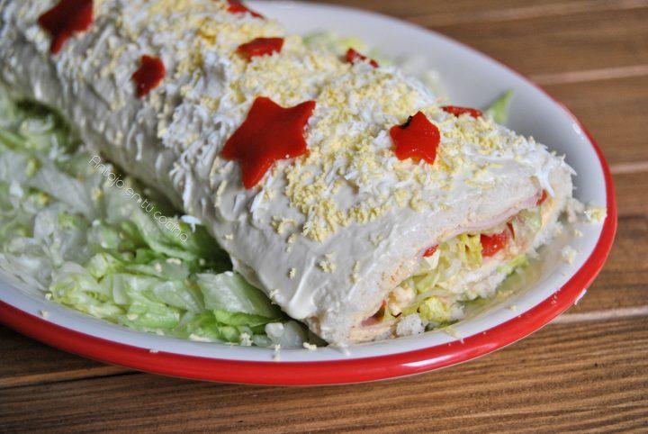 Brazo de gitano salado con pan de molde
