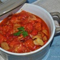 Pimientos asados al ajillo, receta fácil