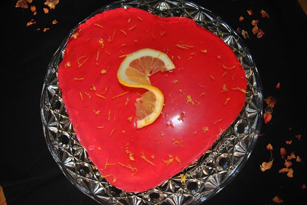 tarta fria frambuesa y limon