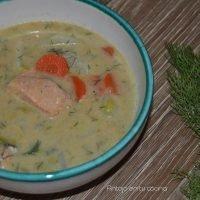 Sopa finesa de salmon y patata