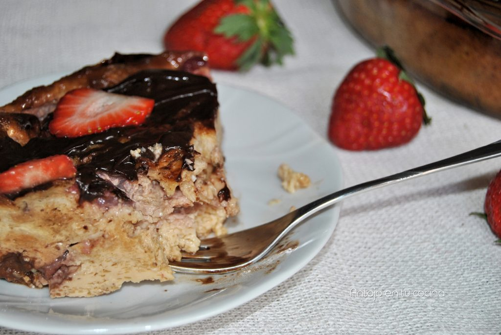 Pudding de fresa y chocolate