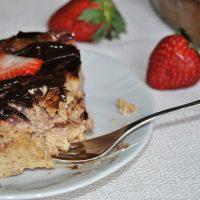 Pudding de fresa y chocolate