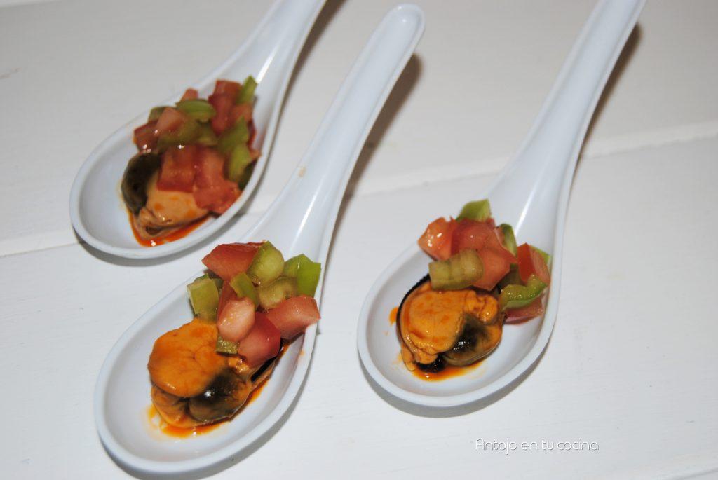 Mejillones en escabeche a la vinagreta