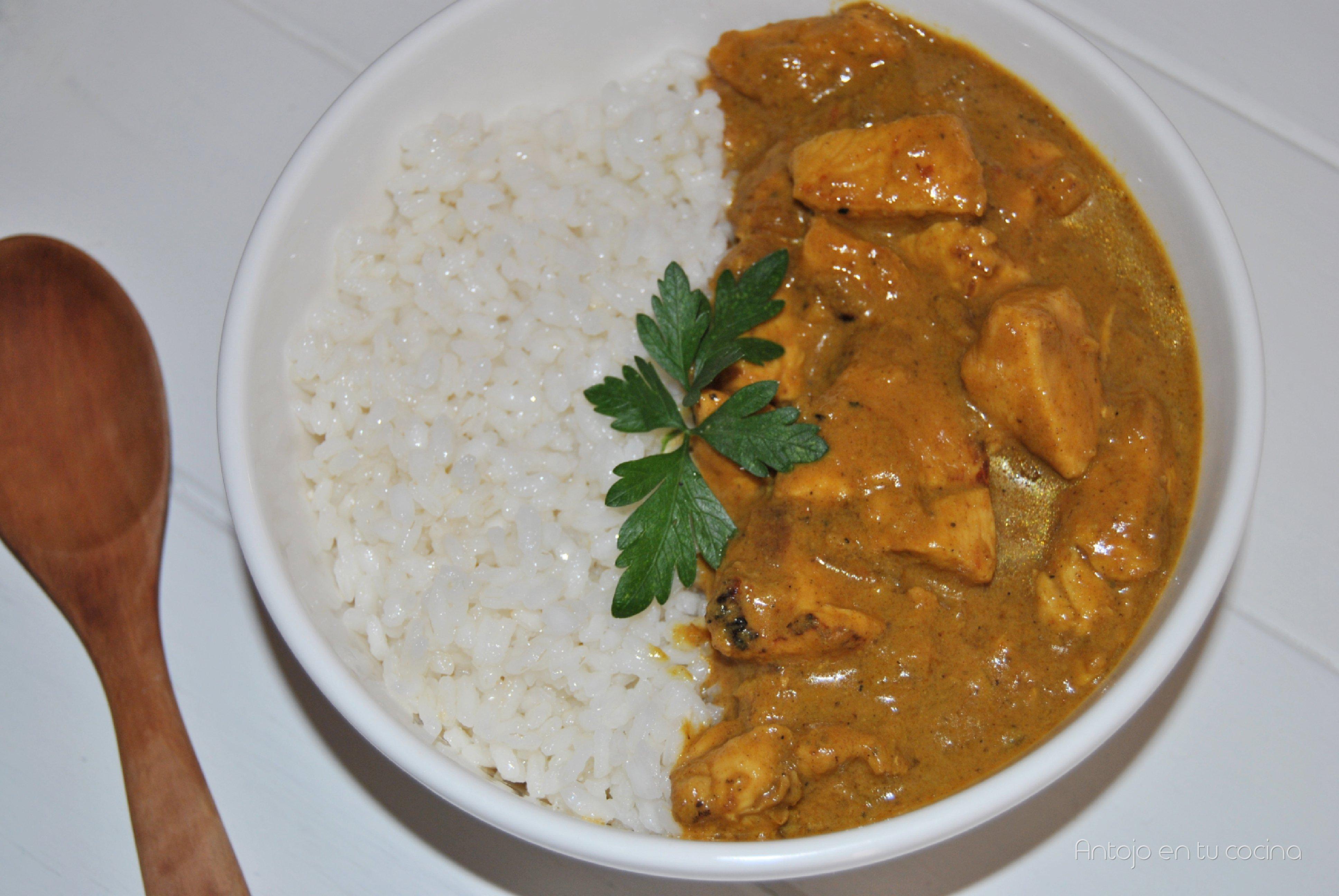 Pollo Con Arroz Al Curry Con Leche De Coco Antojo En Tu Cocina