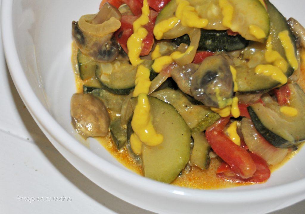 verduras salteadas mostaza