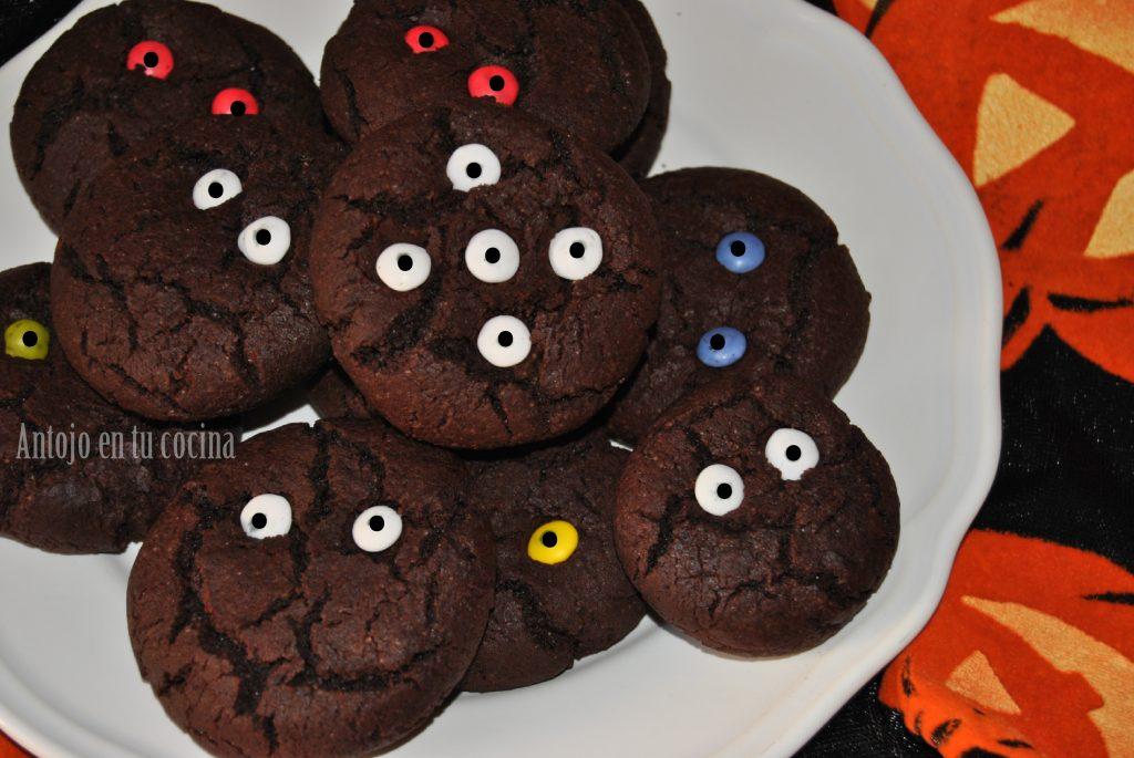 Galletas De Chocolate Con Ojos Para Halloween Receta Fácil