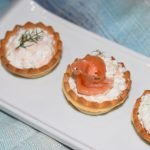 canape frio salmon ahumado y ricota