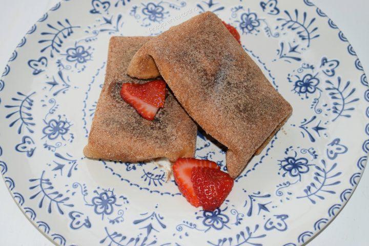 chimichangas dulces fresa y nata