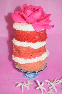 tarta de cava y rosas