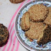galletas veganas de tahini sesamo
