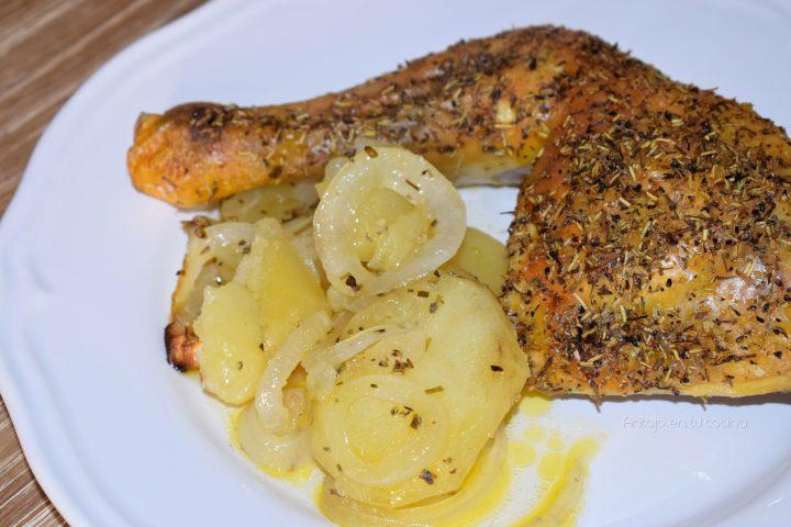 pollo al horno con hierbas provenzales