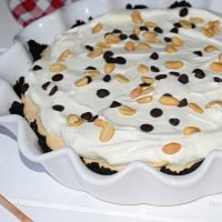 Tarta fría de mantequilla de cacahuete
