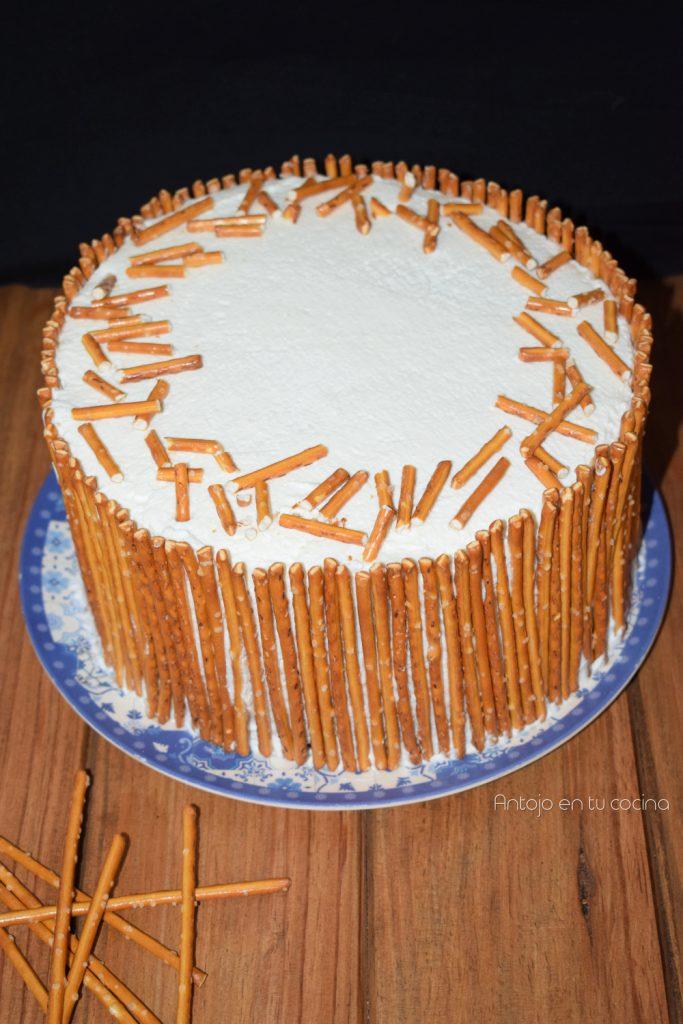 tarta guinness y pretzels