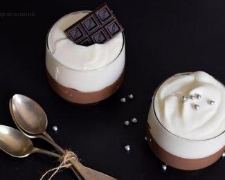 copa chocolate y nata montada
