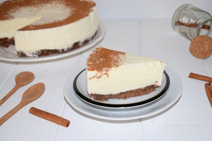 tarta fría de nata y leche condensada