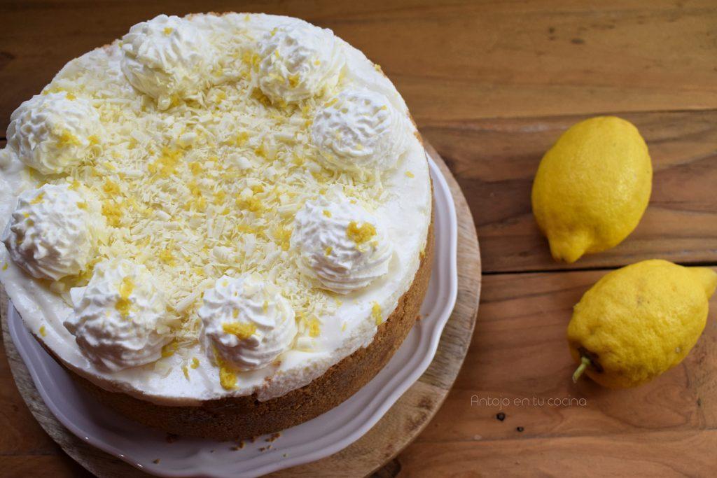 tarta mousse limon y leche condensada