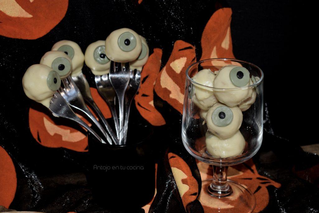 cake pops ojo comestible halloween