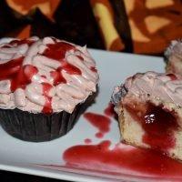 Cupcakes cerebro para Halloween