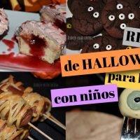 recetas halloween con niños