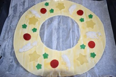 Roscon de Reyes de hojaldre