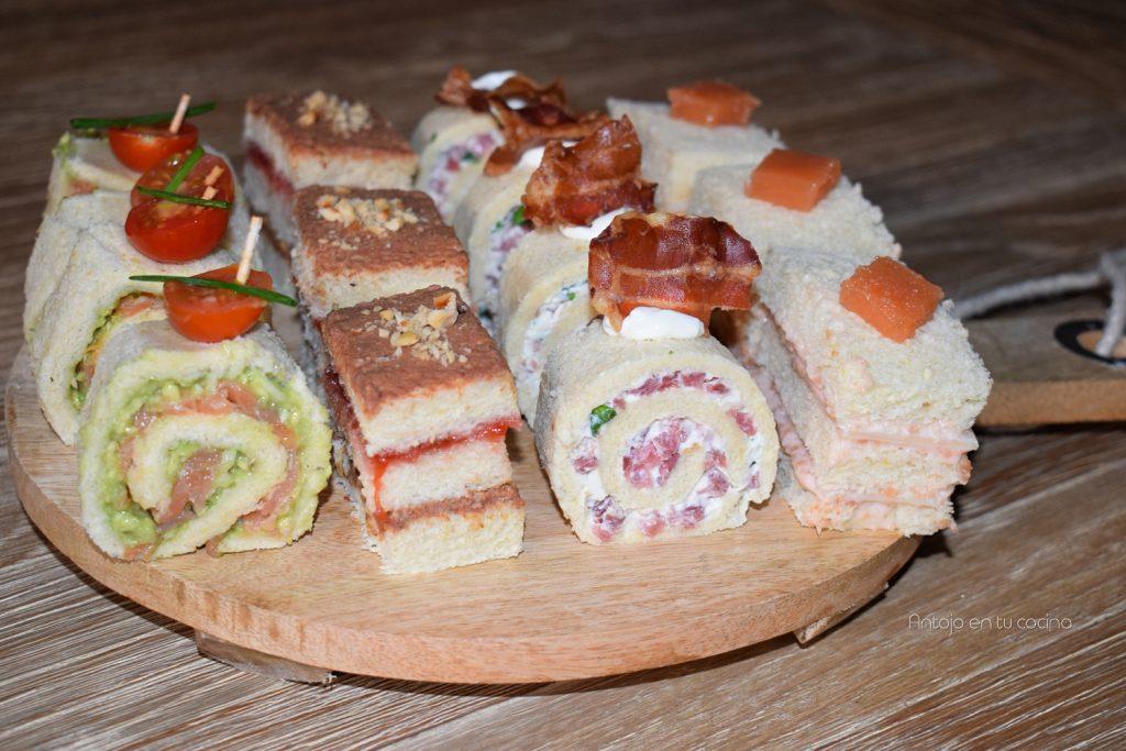 4 aperitivos fáciles, rápidos y baratos con pan de molde