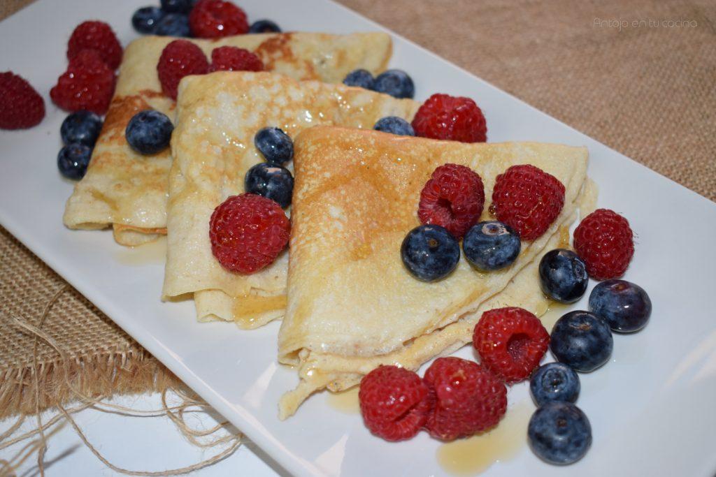Crepes de avena y yogur saludables