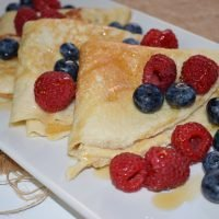 Crepes de avena y yogur saludables