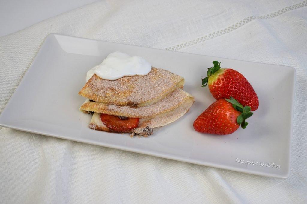 wrapp fresa chocolate y plátano