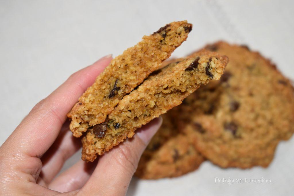 Cookies de almendra, avena y jengibre ¡Sin pesar ingredientes!