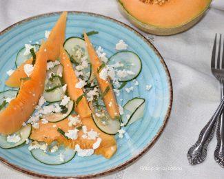 Ensalada de melón cantaloup y pepino ¡Fresca y sana!