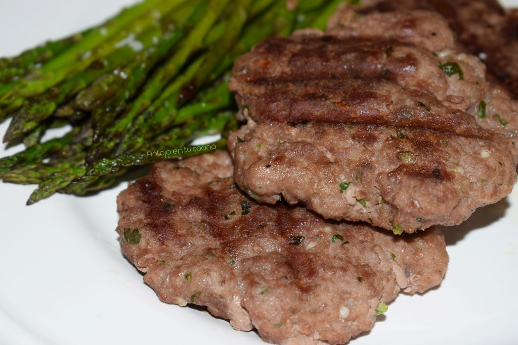 hamburguesas caseras de carne picada o molida