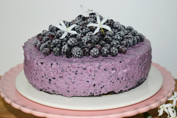 Cheesecake de moras sin horno MUY FÁCIL