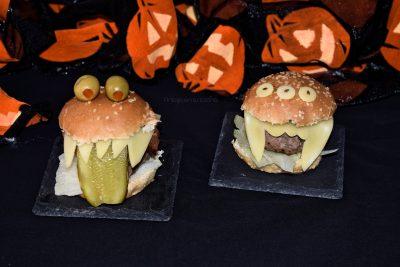 Hamburguesas para Halloween, receta Fácil